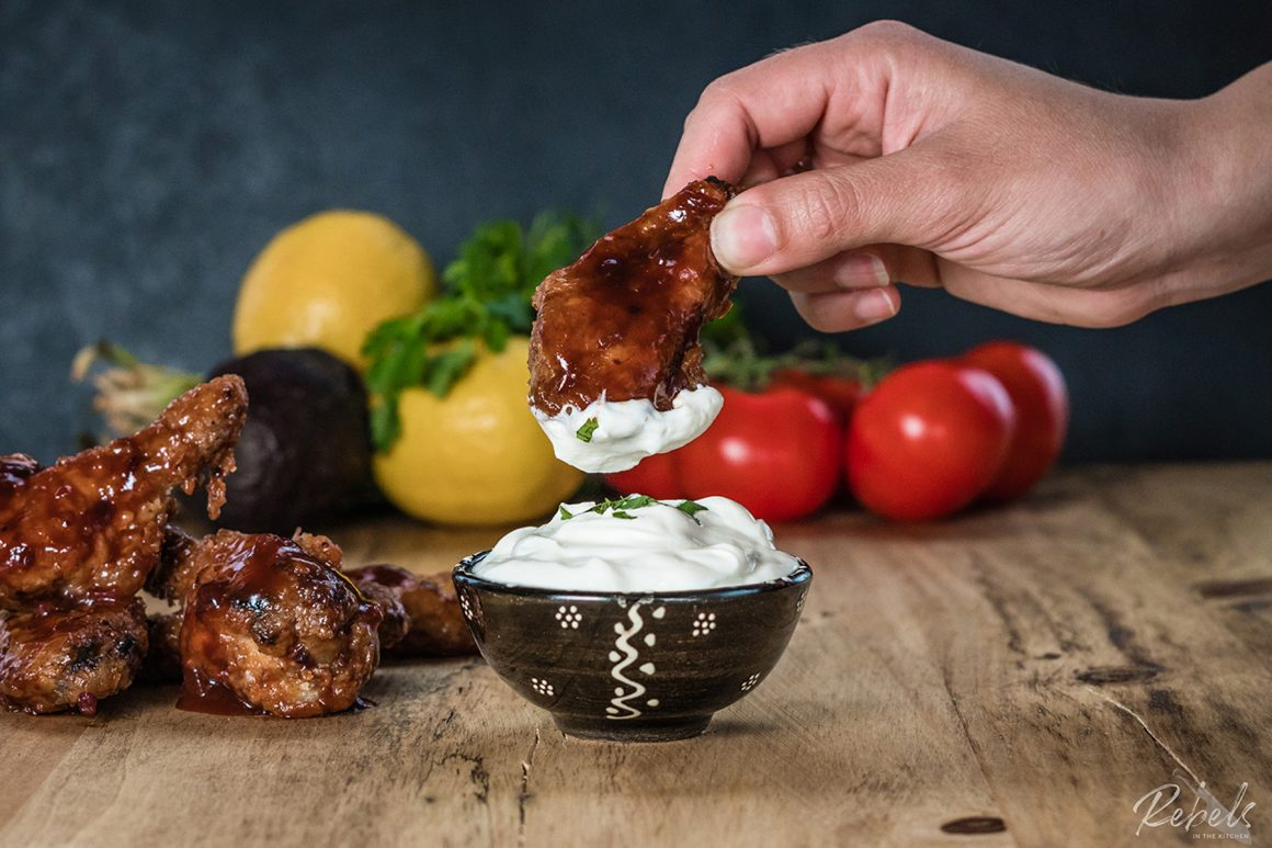 Roasted Chicken Wings & Stout BBQ Sauce