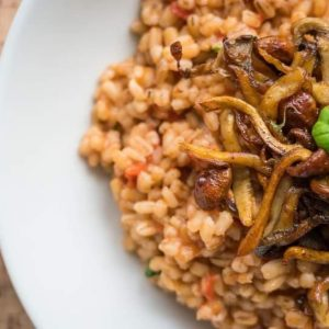 Vegan Mushroom Barley Risotto