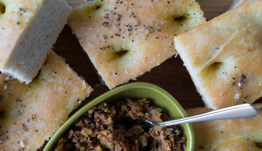 Focaccia and Olive Tapenade